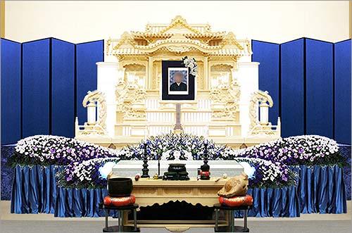 県央みずほ斎場特別花祭壇イメージ