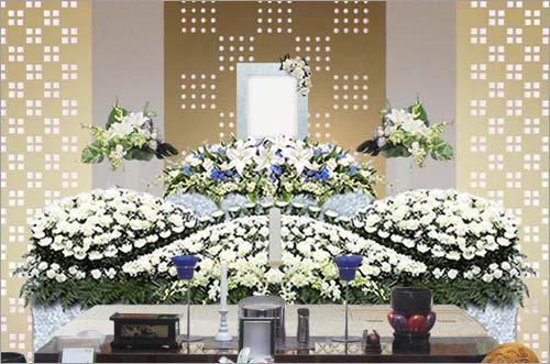県央みずほ斎場の家族葬43花祭壇イメージ4