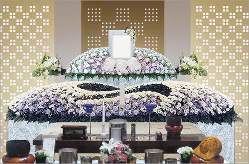 県央みずほ斎場の一般葬53花祭壇イメージ3