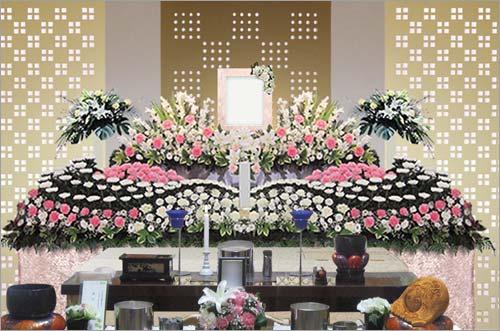 県央みずほ斎場の一般葬53花祭壇イメージ4
