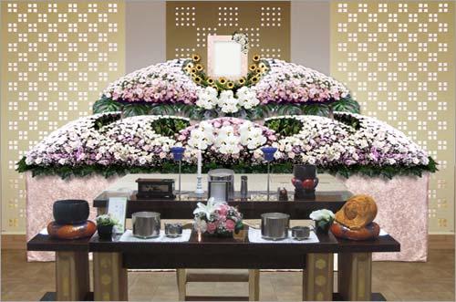 県央みずほ斎場の一般葬83花祭壇イメージ2